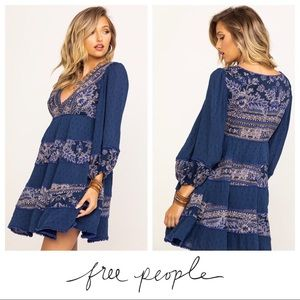 $168 NWT Free People My Love Mini Indigo